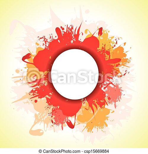 a red and orange ink splash backgro - csp15669884