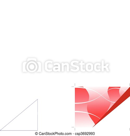 a red business card brochure cover or presentation vector background