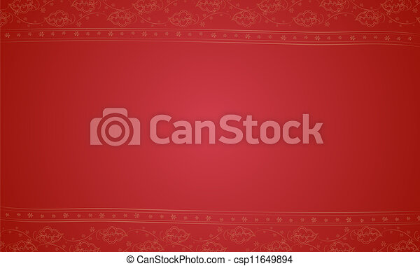 a red placemat - csp11649894