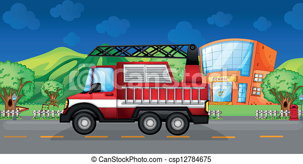 A red towing truck - csp12784675