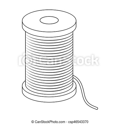 A reel of blue thread.sewing or tailoring tools kit single icon in ...