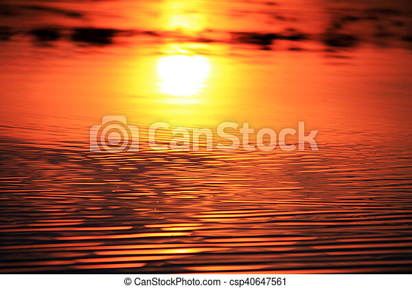a reflection of the sun - csp40647561