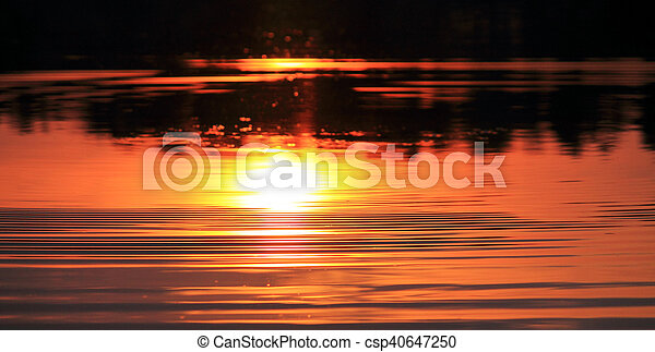 a reflection of the sun - csp40647250