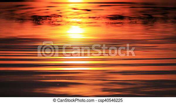 a reflection of the sun - csp40546225