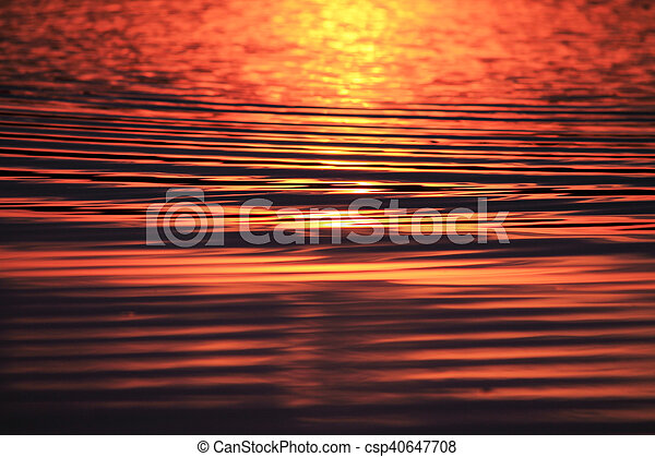 a reflection of the sun - csp40647708
