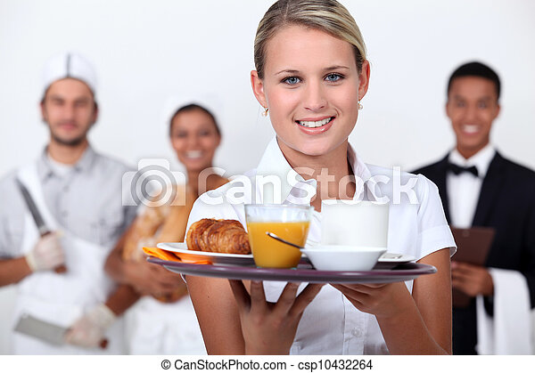 A restaurant staff. - csp10432264