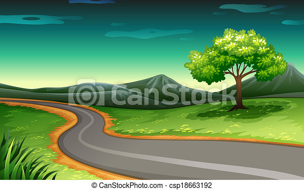 A road going to the mountain - csp18663192
