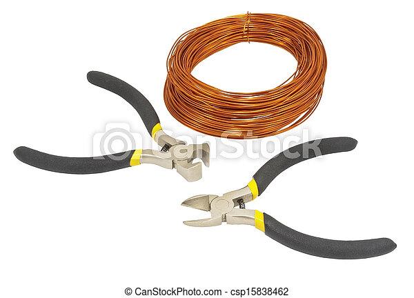 A roll of copper wire - csp15838462