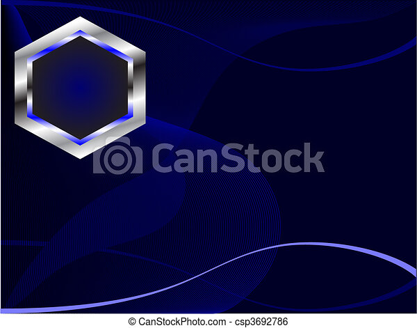 A Royal Blue And Silver White Business Card Template