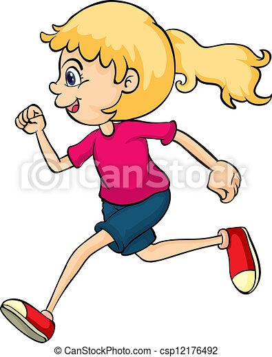 A running girl - csp12176492