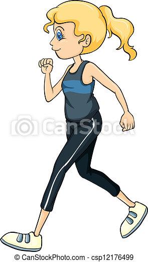 A running girl - csp12176499