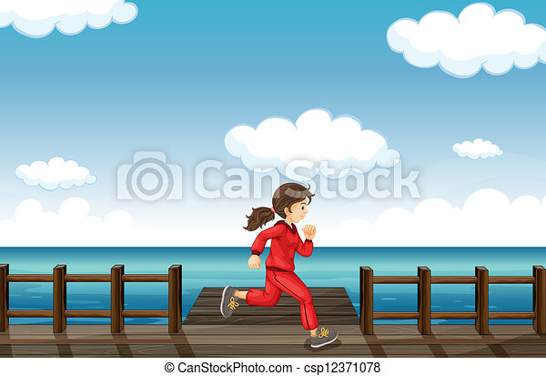 A running girl - csp12371078