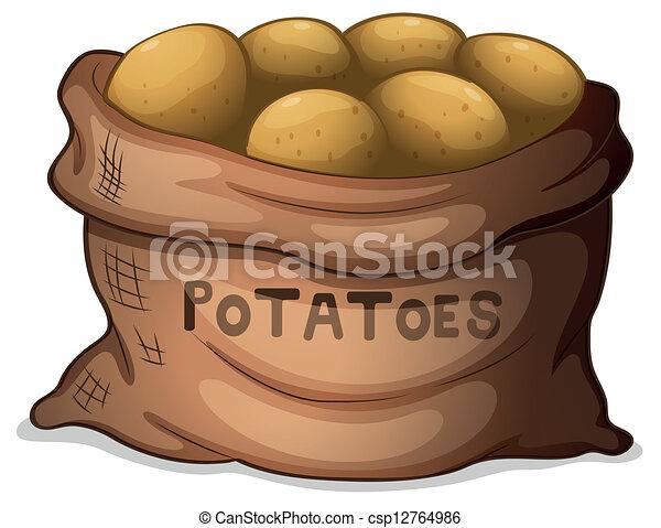 A sack of potatoes - csp12764986