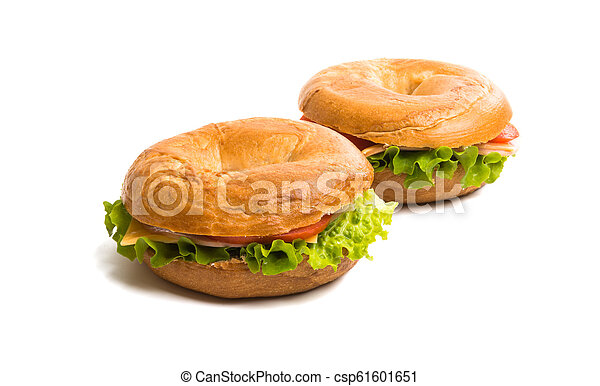 a sandwich with ham isolated - csp61601651