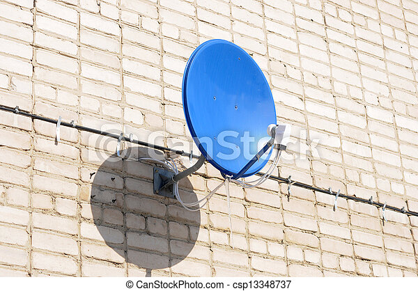 A satelite is attached to the wall - csp13348737