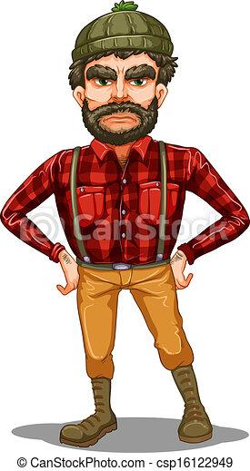 A scary lumberjack standing - csp16122949