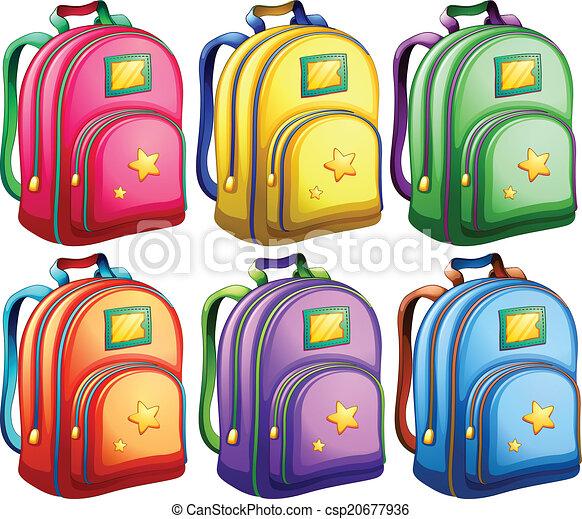 A set of backpacks - csp20677936