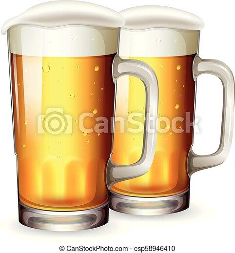 A Set of Beer Mug - csp58946410