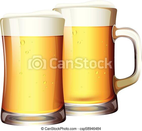 A Set of Beers in Mug - csp58946484