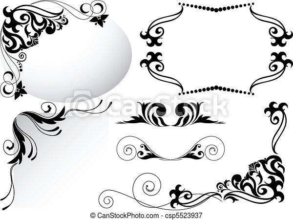 a set of black ornaments - csp5523937