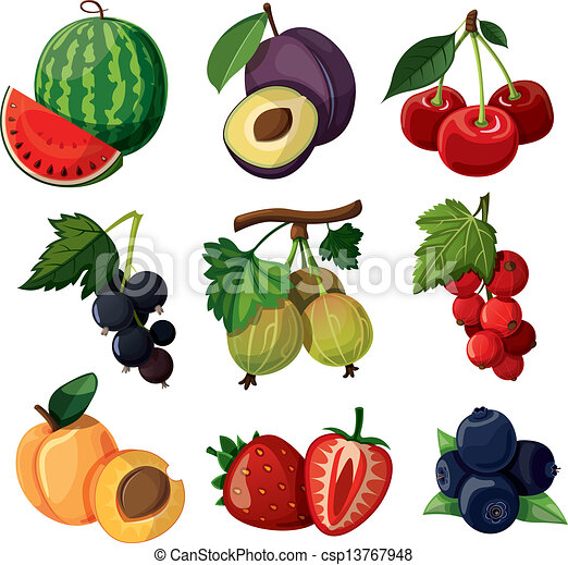 A set of delicious berries. - csp13767948