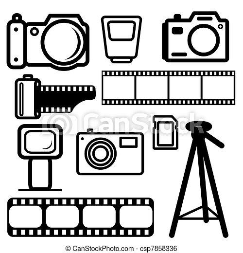 A set of digital cameras - csp7858336