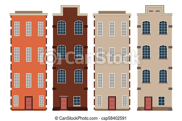 A Set of Dutch Building - csp58402591