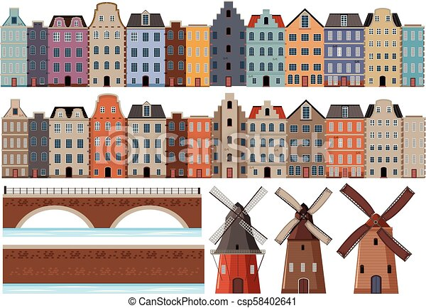 A Set of Dutch Building - csp58402641