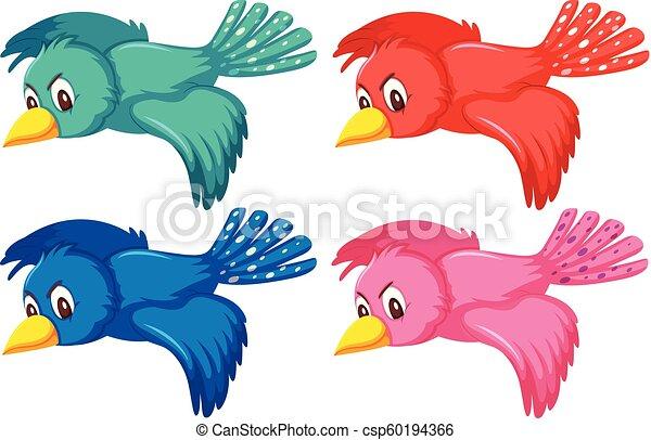 A set of flying bird - csp60194366
