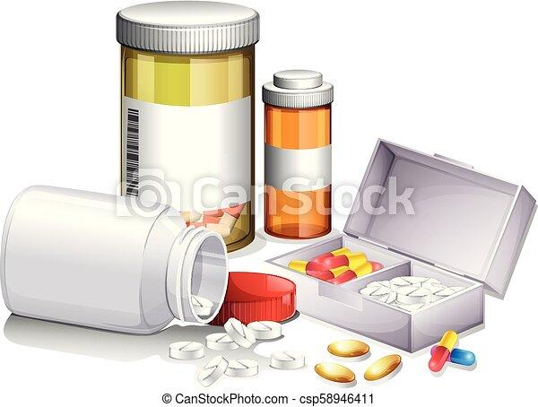 A Set of Medicine - csp58946411