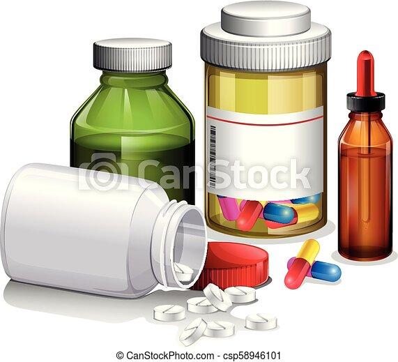 A Set of Medicine - csp58946101