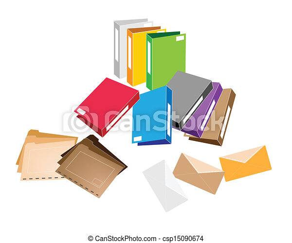 A Set of Office Folder and Close Envelope - csp15090674