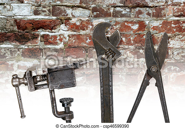 A set of old tools - csp46599390