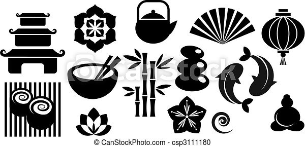 A set of orinental and Zen icons - csp3111180