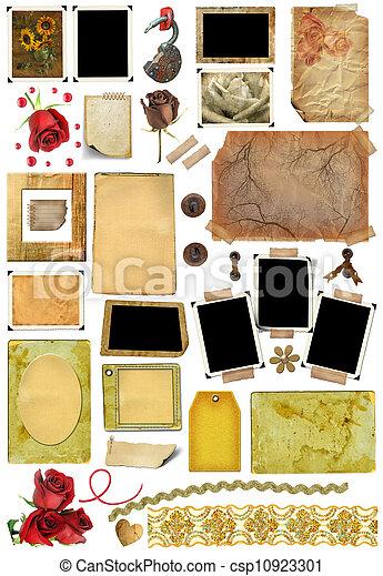 A set of scrap elements, picture frames, photo edges - csp10923301