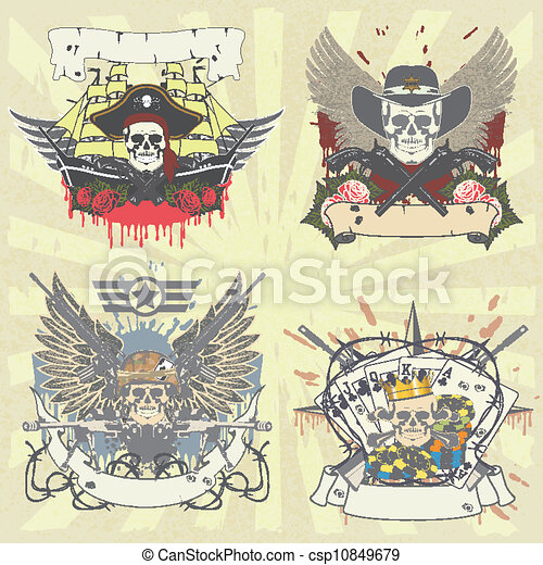 A set of stickers on shirt with sku - csp10849679