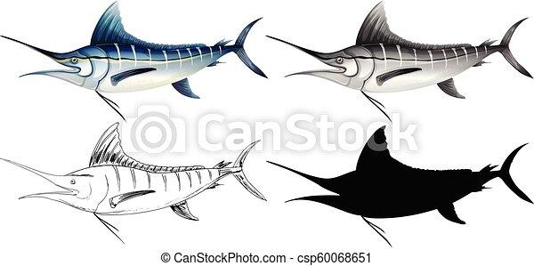 A set of swordfish - csp60068651