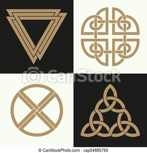 A Set Of The Ancient Symbols Executed In The Celtic Style Secret