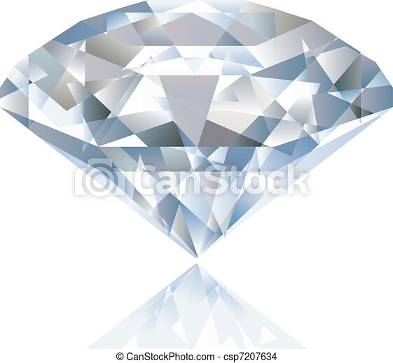 A Shiny bright diamond. Vector - csp7207634