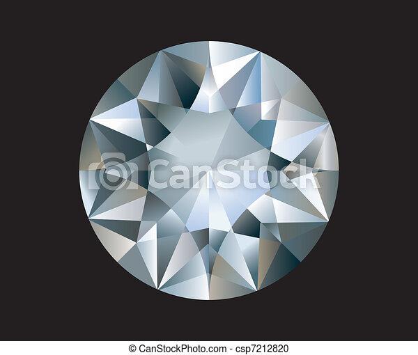 A Shiny bright diamond. Vector  - csp7212820