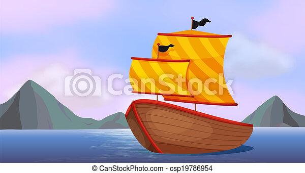 A ship at the ocean - csp19786954