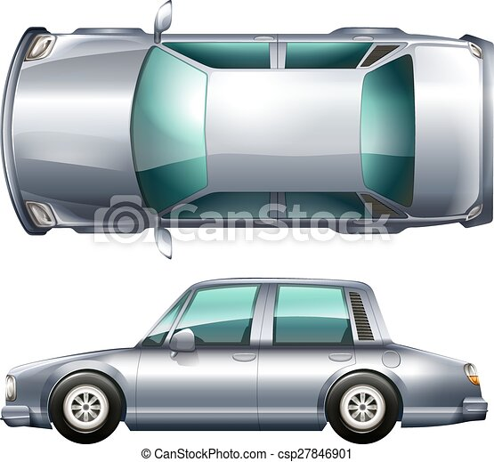 A silver vehicle - csp27846901