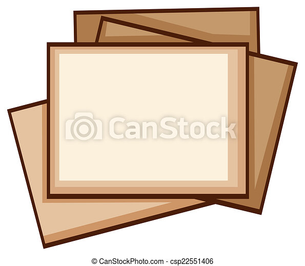 a simple coloured sketch of photo frames illustration of a simple