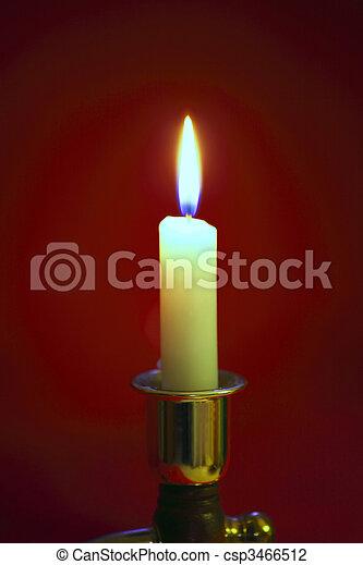 A single flame. - csp3466512