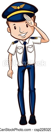 A sketch of a happy pilot. Illustration of a sketch of a ...