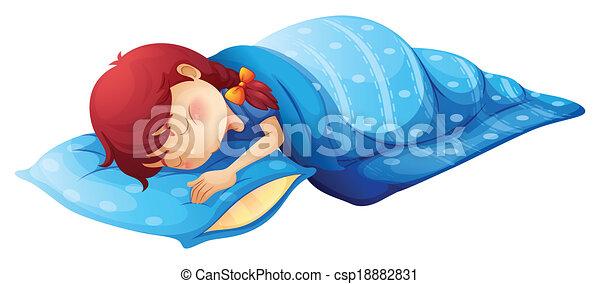 A sleeping child - csp18882831