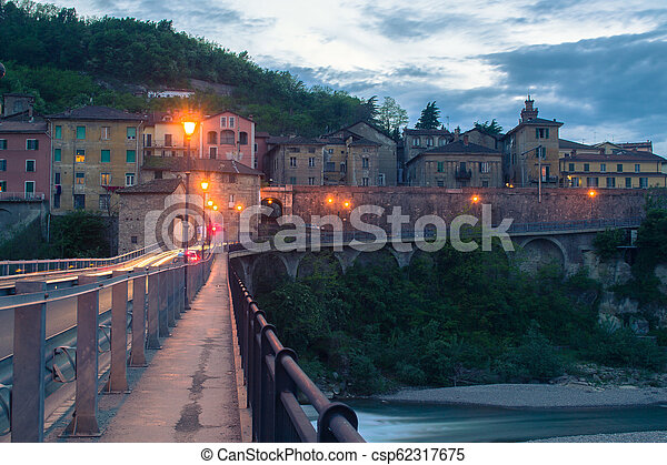 A small Italian town in the evening. - csp62317675