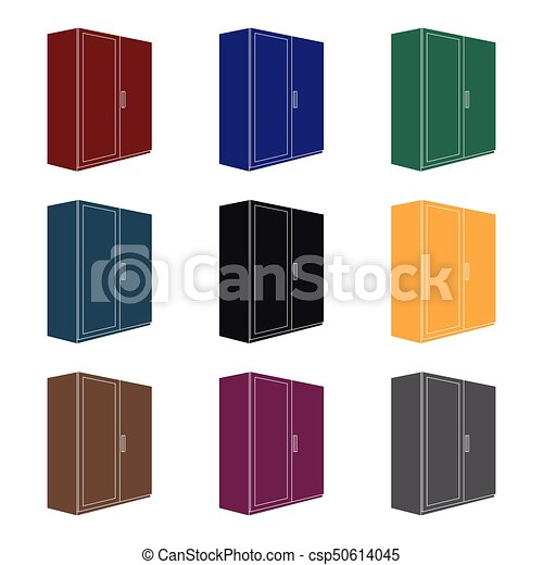 a small wardrobe with a clean mirror bedroom furniture eps vector rh canstockphoto ie bedroom furniture clipart black and white