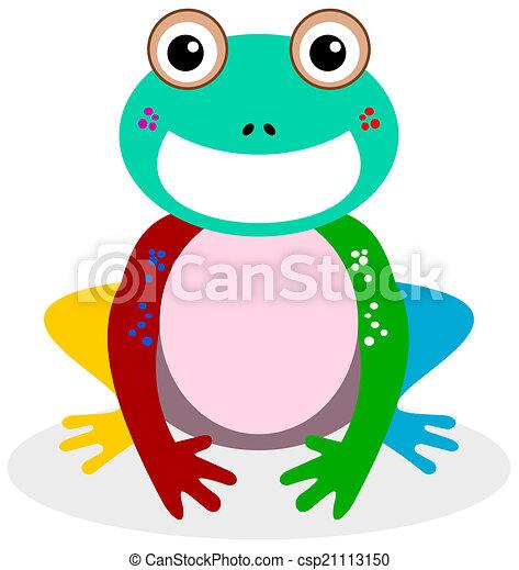 a smiling frog multicolor - csp21113150