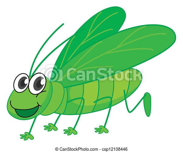 A smiling grasshopper - csp12108446